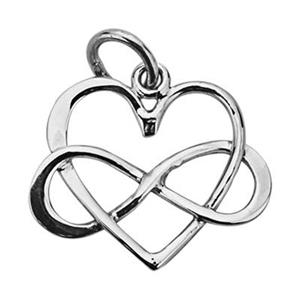 SN273: Sterling Silver Infinity Heart Charm