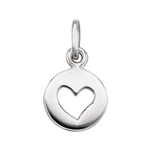 SN283: Sterling Silver Heart Cutout Charm