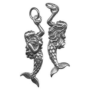 SN332: Sterling Silver Mermaid Pendant