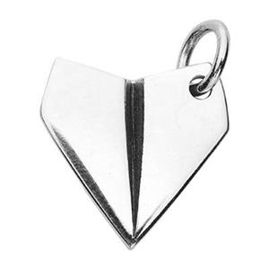 SN370: Sterling Silver Paper Airplane Charm
