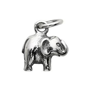 SN374: Tiny Sterling Silver Elephant Charm