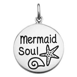 SN420: Sterling Silver Mermaid Soul Charm