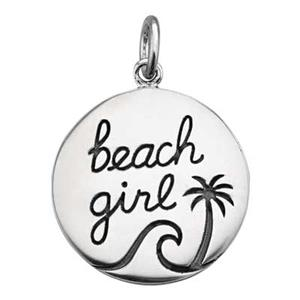 SN421: Sterling Silver Beach Girl Charm