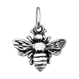 SN469: 11.6x10.6mm Bumble Bee Charm, 4.9mm Closed Jump Ring OD