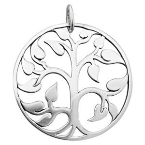 SN476: Large Tree of Life Pendant, Closed Jump Ring OD