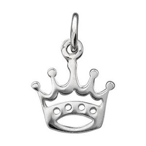 SN511: Sterling Silver Crown Charm