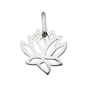 SN564: Silver Lotus Outline Charm