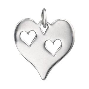 SN610: Heart Tag with Two Heart Cutouts