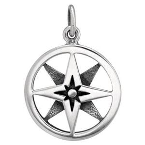 SN630: Layered Compass Charm