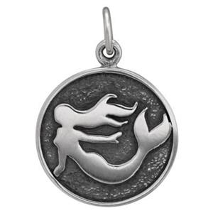 SN635: Mermaid Medallion Charm