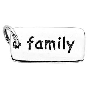 SN781: Sterling Silver Family Tag Charm