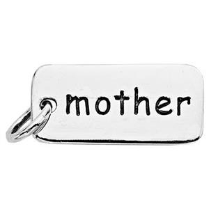 SN782: Sterling Silver Mother Tag Charm