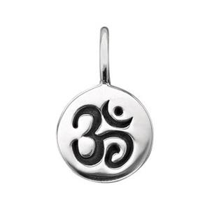 SN807: Sterling Silver Om Circle Tag Charm