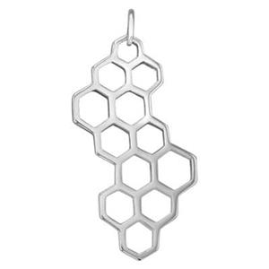 SN8101: Sterling Silver Honeycomb Pendant