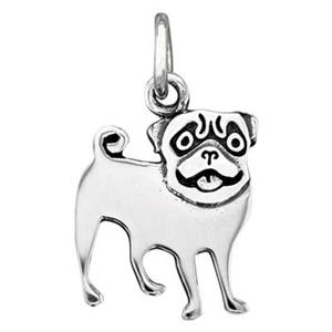 SN8131: Sterling Silver Pug Dog Charm