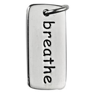 SN832: Sterling Silver Breathe Tag Charm