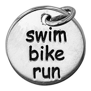 SN865: Sterling Silver Swim, Bike Run Charm