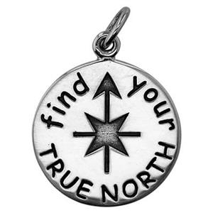 SN874: Sterling Silver True North Charm