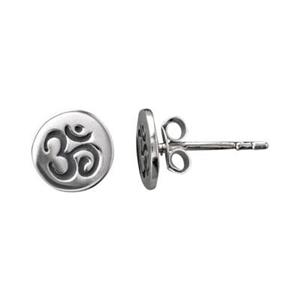 SNE38: Tiny Ohm Stud Earrings