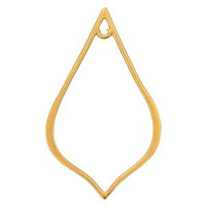SNG227: Gold Plated Sterling Silver Pointed Teardrop Chandelier