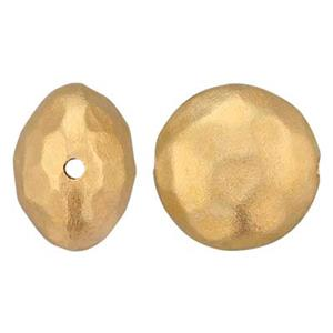 SNG3302: Gold Plated Sterling Silver Puff Hammered Round