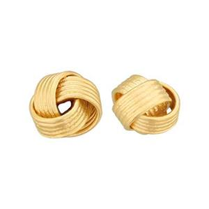 SNG3304: Gold Plated Sterling Silver Matte Knot Bead