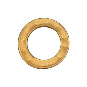SNG590: Gold Plated Sterling Silver Hammered Circle Link