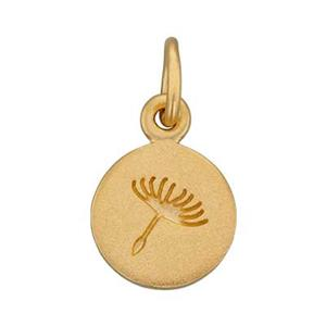 SNG641: Gold Plated Sterling Silver Dandelion Wish Charm