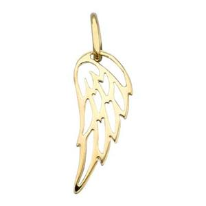 SNGS501: Gold Plated Sterling Silver Wing Outline Charm