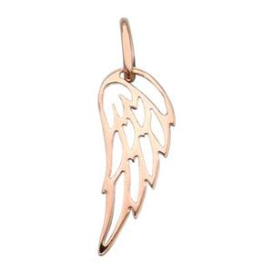 SNRG501: Rose Gold Plated Sterling Silver Tiny Wing Outline Charm