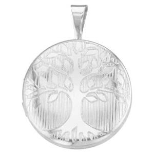 SP527: Round Silver Tree of Life Locket