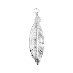 SQ296: Sterling Silver Small Feather Charm