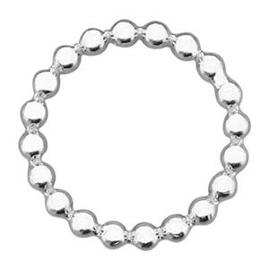 SQ324: Sterling Silver Beaded Circle Link