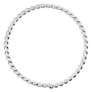 SQ386: Sterling Silver Twisted Circle Link