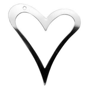 SQ523: Sterling Silver Large Cutout Heart Pendant