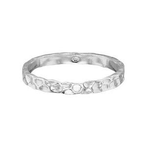 SR328: Sterling Silver 2.5mm Hammered Ring Band