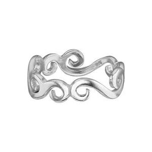 SR387: Sterling Silver Vine Ring Band
