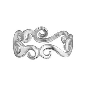 SR388: Sterling Silver Vine Finger Ring Band