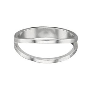 SR4918: Split Top Finger Ring, Split Ranges from 1-5mm, Size 8