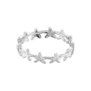 SR5837: Starfish Wreath Finger Ring