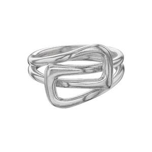 SR5937: Square Buckle Knot Finger Ring