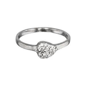 SR5947CZ: Pave Heart Finger Ring