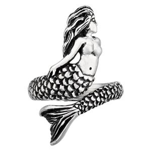 SR601: Sterling Silver Adjustable Mermaid Finger Ring