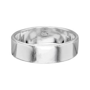 SR629: Sterling Silver 6mm Plain Ring Band