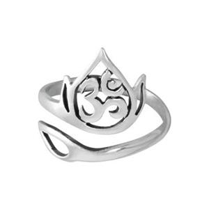 SR73: Ohm and Leaf Adjustable Finger Ring
