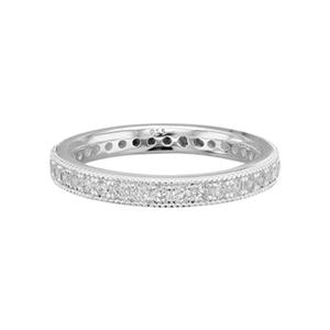 SR7528: Sterling Silver CZ Eternity Band