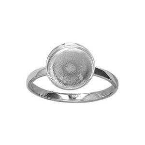 SRBZ107: Finger Ring with Round Bezel Cup