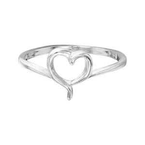 SRE6197: Swirl Heart Stacking Ring