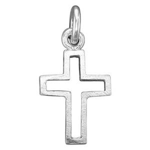 SS101: Sterling Silver Open Cross Charm