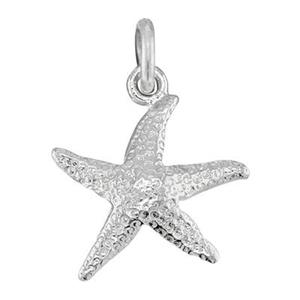 SS51: Sterling Silver Heavy Starfish Charm